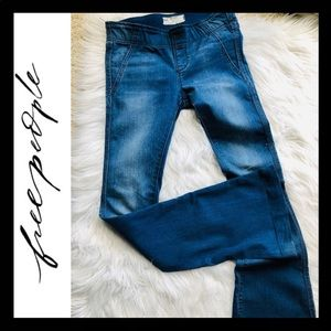 FREE PEOPLE Pull-On Retro Flare Jeans